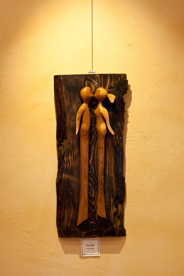 sculpture exposée aux alpins